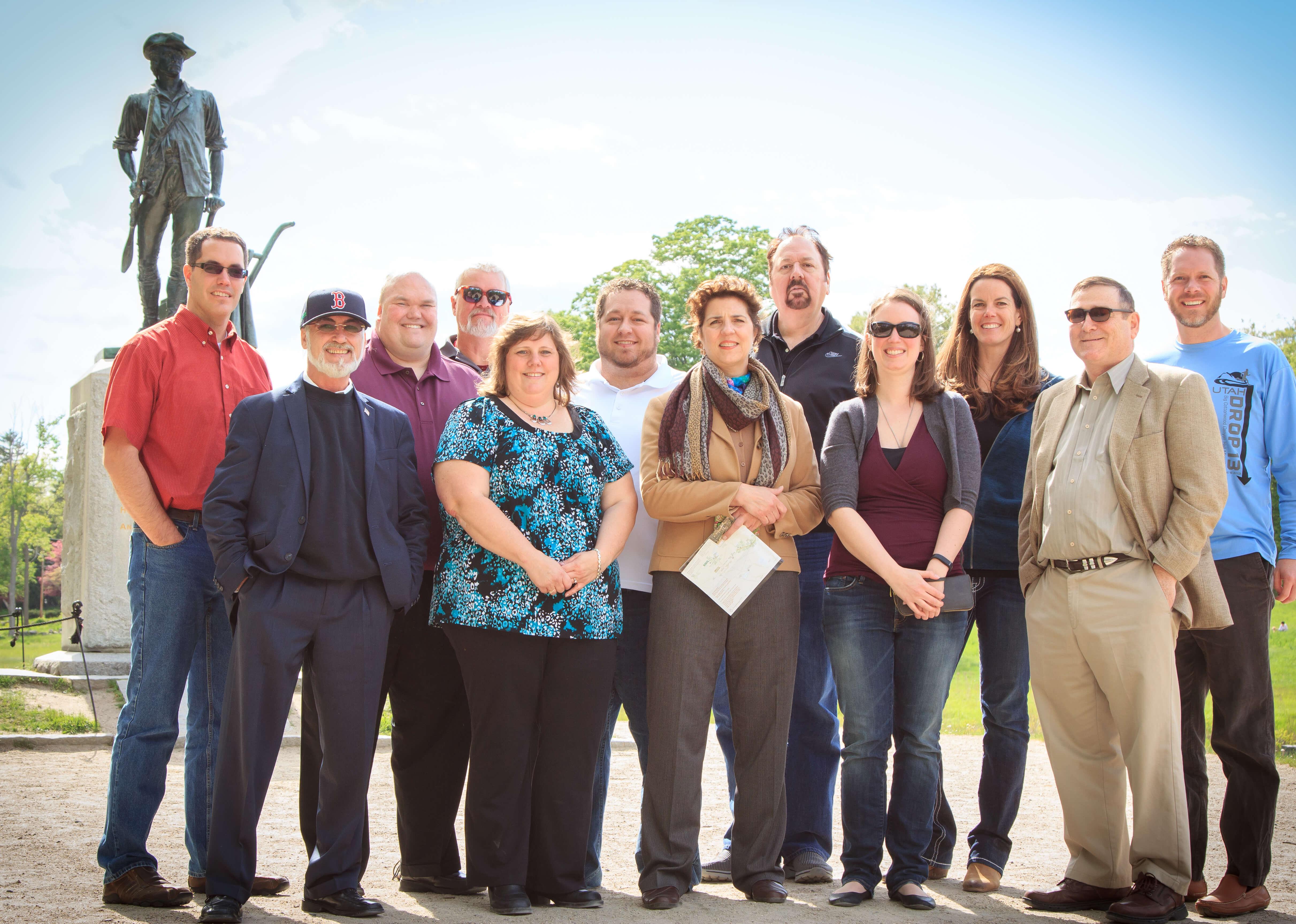 EarthSoft Managers & Concord Staff @ Concord Summit, May 19, 20, 2015 - Mat - Lorie - Chris - Maz - Diane - Rian - Janet - Dan - Emily - Tina - Mitch - Scot. Missing: Alek, John, Jürgen. Photo Courtesy of Scot Weaver