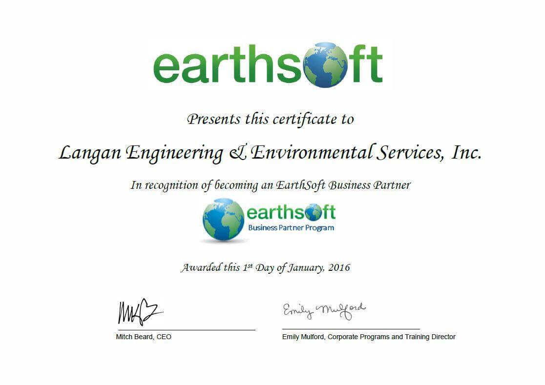Langan Business Partner Program Certificate